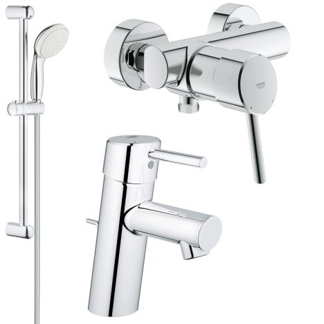 Pachet baterii 3 in 1 baterii dus Grohe Concetto set dus bara